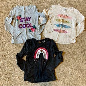 Bundle of Girls Long Sleeved Shirts M 7/8